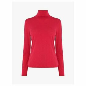 L.K.Bennett Elliot Jersey Roll Neck Top, Pink