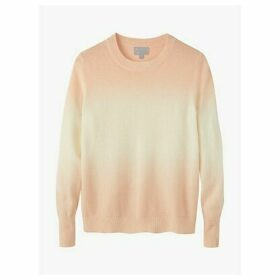 Pure Collection Ombre Curved Hem Cashmere Jumper, Neutral