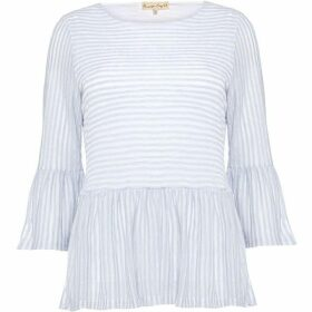 Phase Eight Paulina Peplum Stripe Top