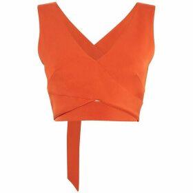 Karen Millen Wrap Cropped Top