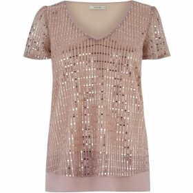 Oasis V Neck Sequin Tee
