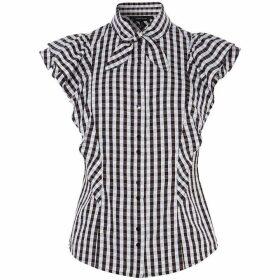 Karen Millen Gingham Ruffle Shirt