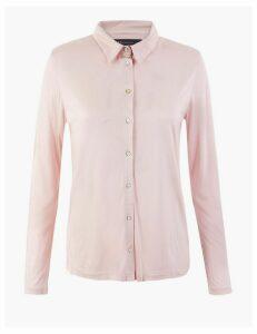 M&S Collection Jersey Regular Fit Shirt