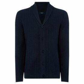 Gant Button thru Herrungbone Cardigan Knit
