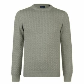 Gant Flat Cable Knit Jumper Mens