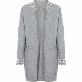 Yumi Pearl Embellished Longline Cardigan