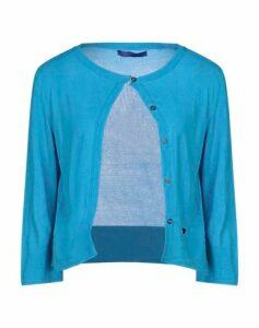 BLUE LES COPAINS KNITWEAR Cardigans Women on YOOX.COM