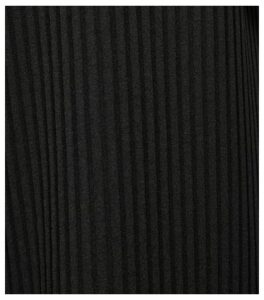 Black Ribbed Wide Leg Trousers New Look