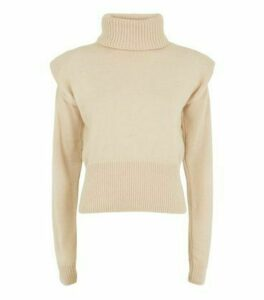 Carpe Diem Camel Puff Shoulder Jumper New Look
