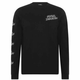 Diesel Diego Long Sleeve T Shirt - 900 Black