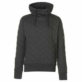 Firetrap Quilted OTH Hoody Mens - Charcoal Marl