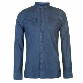 Firetrap Blackseal Denim Shirt - Navy