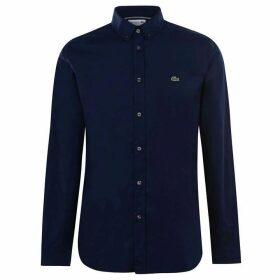 Lacoste Lacoste Long Sleeve Poplin Stretch Shirt - Navy HDE