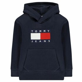TOMMY JEANS Flag Hooded Sweatshirt - Navy Blazer