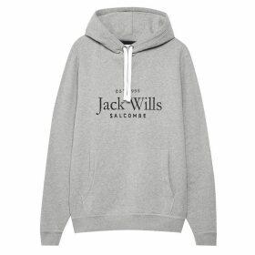 Jack Wills Ampthill Graphic Hoodie - Grey Marl