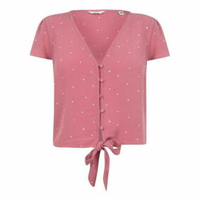 Jack Wills Hope Romantic Dot Blouse - Berry