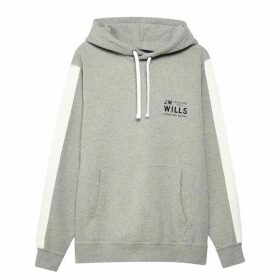 Jack Wills Lochbury Graphic Hoodie - Grey Marl