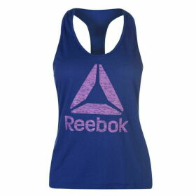 Reebok Logo Tank Top Ladies - Deep Cobalt