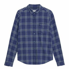 Jack Wills Homefore Classic Fit Checked Shirt - Navy