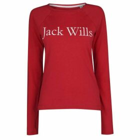 Jack Wills Winstanley Long Sleeve T-Shirt - Red