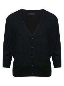 Women's Ladies plain lightweight batwing sleeve cardigan button front v neck