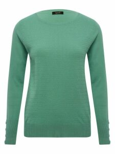 Women's Ladies woven knit textured cosy jumper