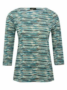 Women's Ladies Spirit top with three quarter sleeves and textured stripe pattern