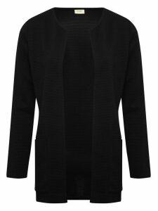 Women's Ladies JDY black ribbed cardigan