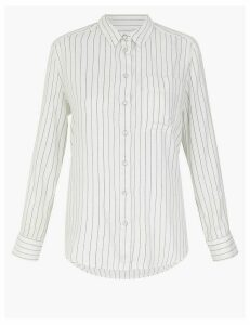 M&S Collection Striped Cosy Relaxed Fit Shirt
