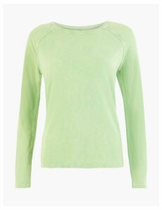 M&S Collection Pure Cotton Raglan Long Sleeve Top