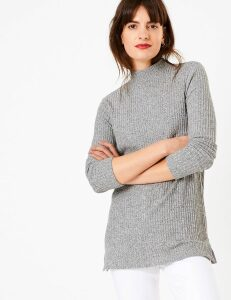 M&S Collection Soft Touch Textured Longline Top