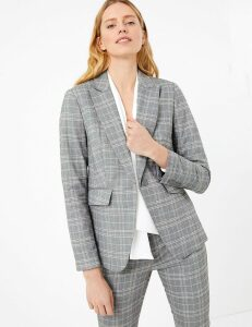 M&S Collection Checked Tailored Fit Blazer