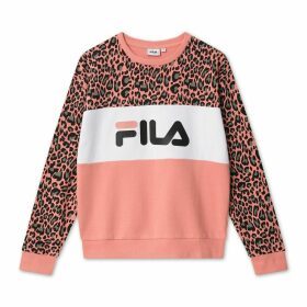 Leah Aop Cotton Mix Sweatshirt in Leopard Print