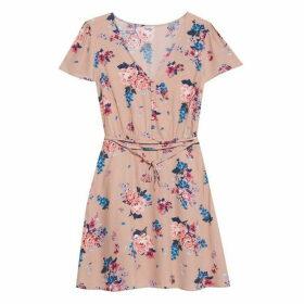Jack Wills Perwent Soft Printed Tea Dress - Nude