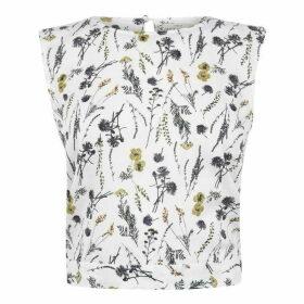 Jack Wills Milburn Floral Tie Back Top - White