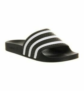 adidas Adilette Sliders BLACK WHITE