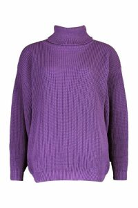 Womens Petite Volume Sleeve Jumper - Purple - M, Purple