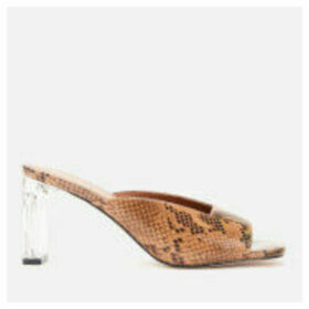 Kurt Geiger London Women's Briane Leather Heeled Mules - Beige Comb - UK 8