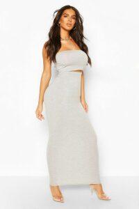 Womens Basic Bodycon Midaxi Skirt - Grey - 16, Grey