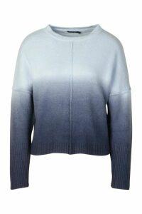 Womens Ombre Jumper - Blue - M, Blue