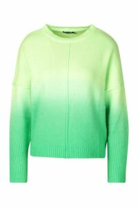 Womens Ombre Jumper - Green - M, Green