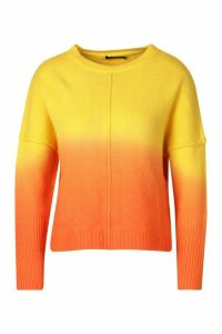 Womens Ombre Jumper - Orange - S, Orange