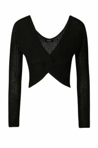Womens Off Shoulder Jumper - Black - M, Black