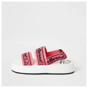 River Island Womens Ellesse Pink strap flatform sandals