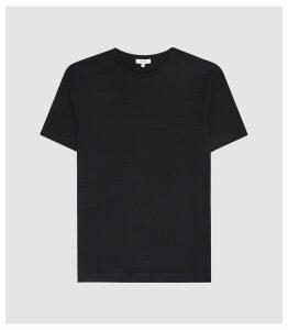 Reiss Gareth - Textured Crew Neck T-shirt in Navy, Mens, Size XXL