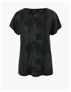 GOODMOVE Printed Short Sleeve Top