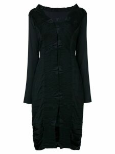 Gucci Pre-Owned pleated longsleeved midi dress - Black