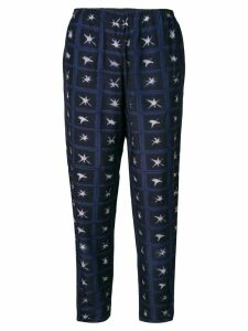 Romeo Gigli Pre-Owned 2000's printed trousers - Blue