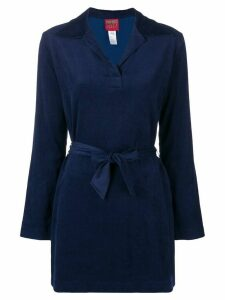 Kenzo Pre-Owned belted midi shirt - Blue