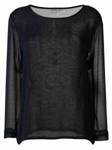 Yves Saint Laurent Pre-Owned 1990's sheer blouse - Blue